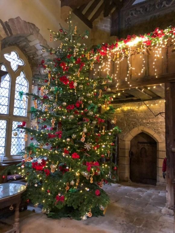 Haddon Hall artisan market Christmas tree