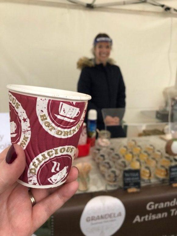 Haddon Hall artisan market hot chocolate