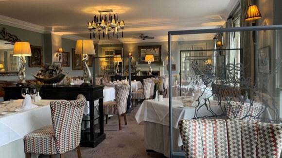 inside the Cavendish Hotel Baslow