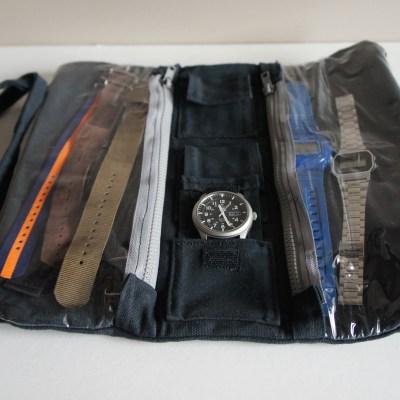 Les diverses poches pour accessoires de montres