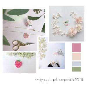 Tissage perles Printemps été 2016