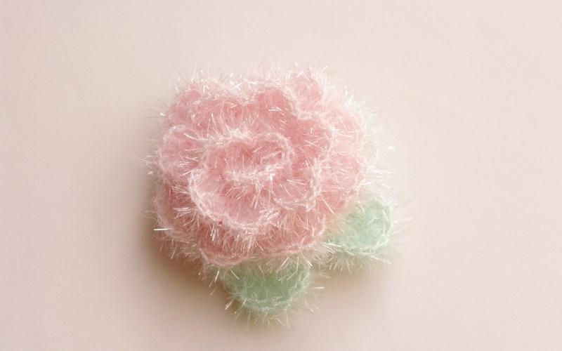 Fleur éponge au crochet