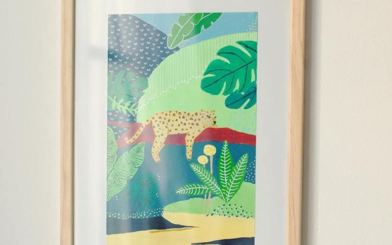 Léopard jungle - Peinture
