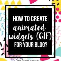Step by step instructions to create your own animated widgets to add on your blog sidebar. On lovelyplanner.com