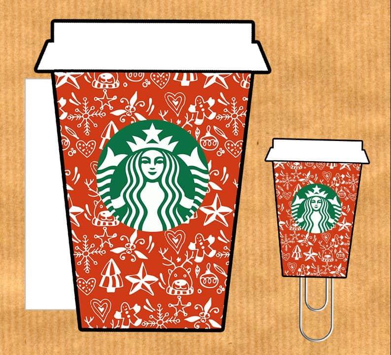 Free printable - Starbucks planner accessories {Advent calendar - Day 3}
