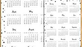 year at a glance printable calendar 2017