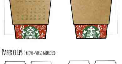 free printable christmas starbucks cup planner divider - undated version available too!