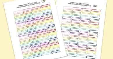Free Functional Thin Boxes Planner Stickers - Rainbow