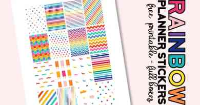 FREE Printable Rainbow Planner Stickers Full Boxes for Classic Happy Planner #plannerstickers #freeplannerstickers #freeprintable #plannerprintable #lovelyplanner