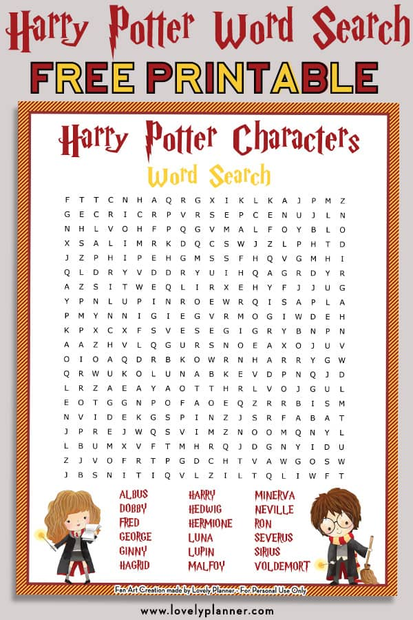 Canny image for harry potter crossword puzzle printable