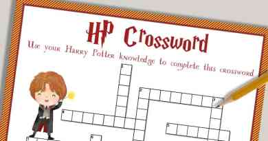 Free Printable Harry Potter Crossword puzzle + solution sheet. #harrypotter #party #freeprintable #crosswordpuzzle #kids #lovelyplanner