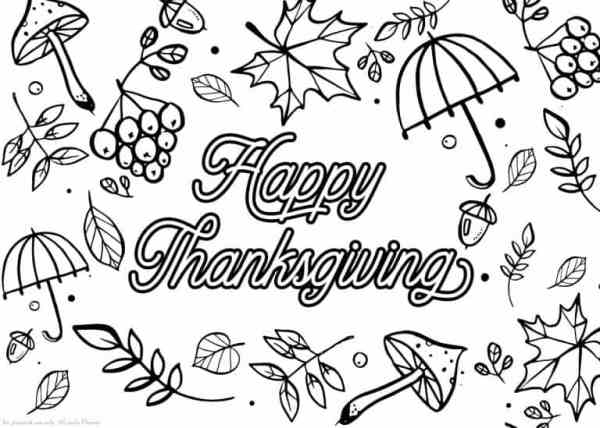 free thanksgiving coloring pages printable # 54