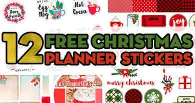 12 Free Printable Christmas Planner Stickers