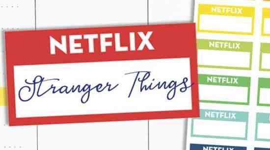 Free Printable Netflix Planner Stickers - TV shows tracker #freeprintable #planner #stickers #plannerstickers #lovelyplanner