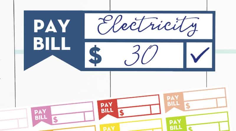 Free Printable Bill Reminder Planner Stickers #planner #plannerstickers #happyplanner #erincondren #money #lovelyplanner