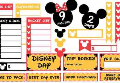 Free Printable Disney Vacation Planner Stickers Countdown and functional stickers to help you prepare and budget your Disney trip #disney #disneyvacation #planner #plannerstickers #freeprintable #lovelyplanner