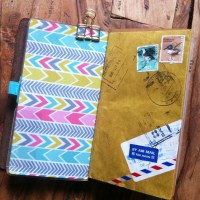 Midori (fauxdori) Traveler´s journal envelope folder DIY