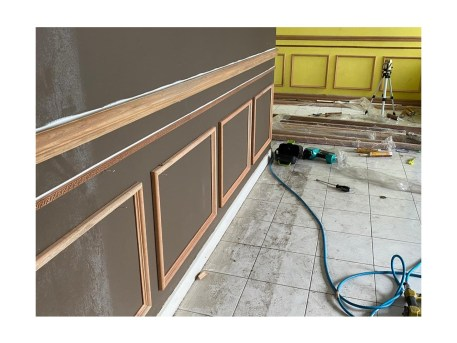 Wainscoting Chair rail M2368 or M2354 DIY Project Resized