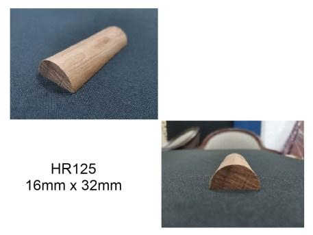 HR125 half circle wood moulding wainscoting