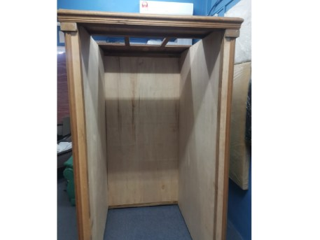 Portable Recording Booth Before Completed