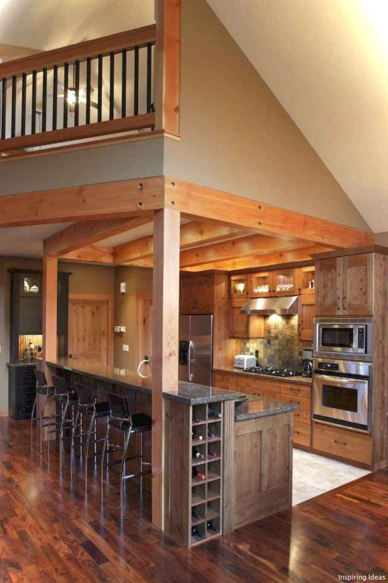 46 Small Cabin Cottage Kitchen Ideas01