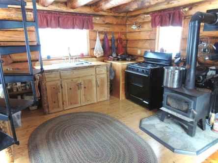 46 Small Cabin Cottage Kitchen Ideas05