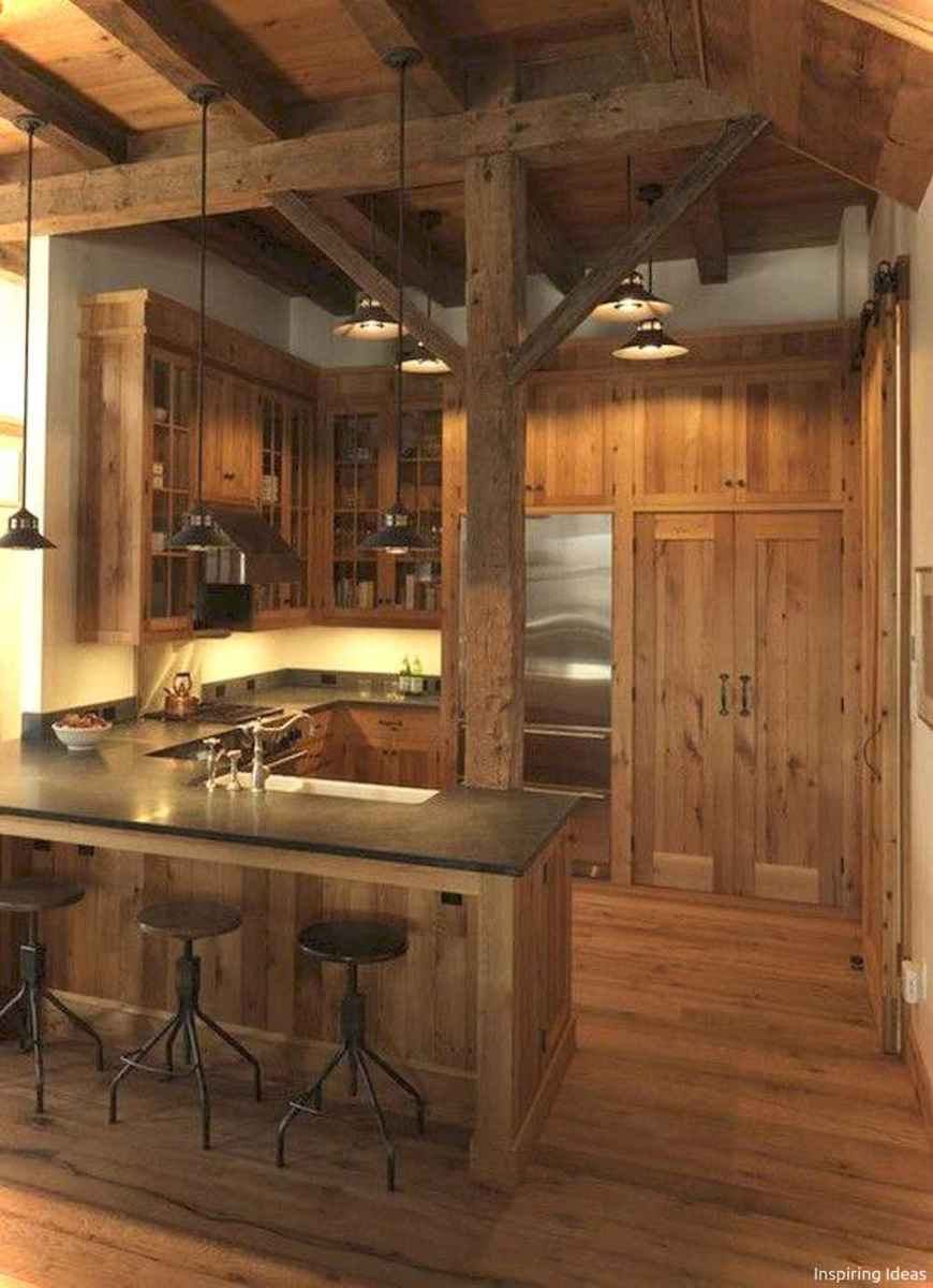 46 Small Cabin Cottage Kitchen Ideas08
