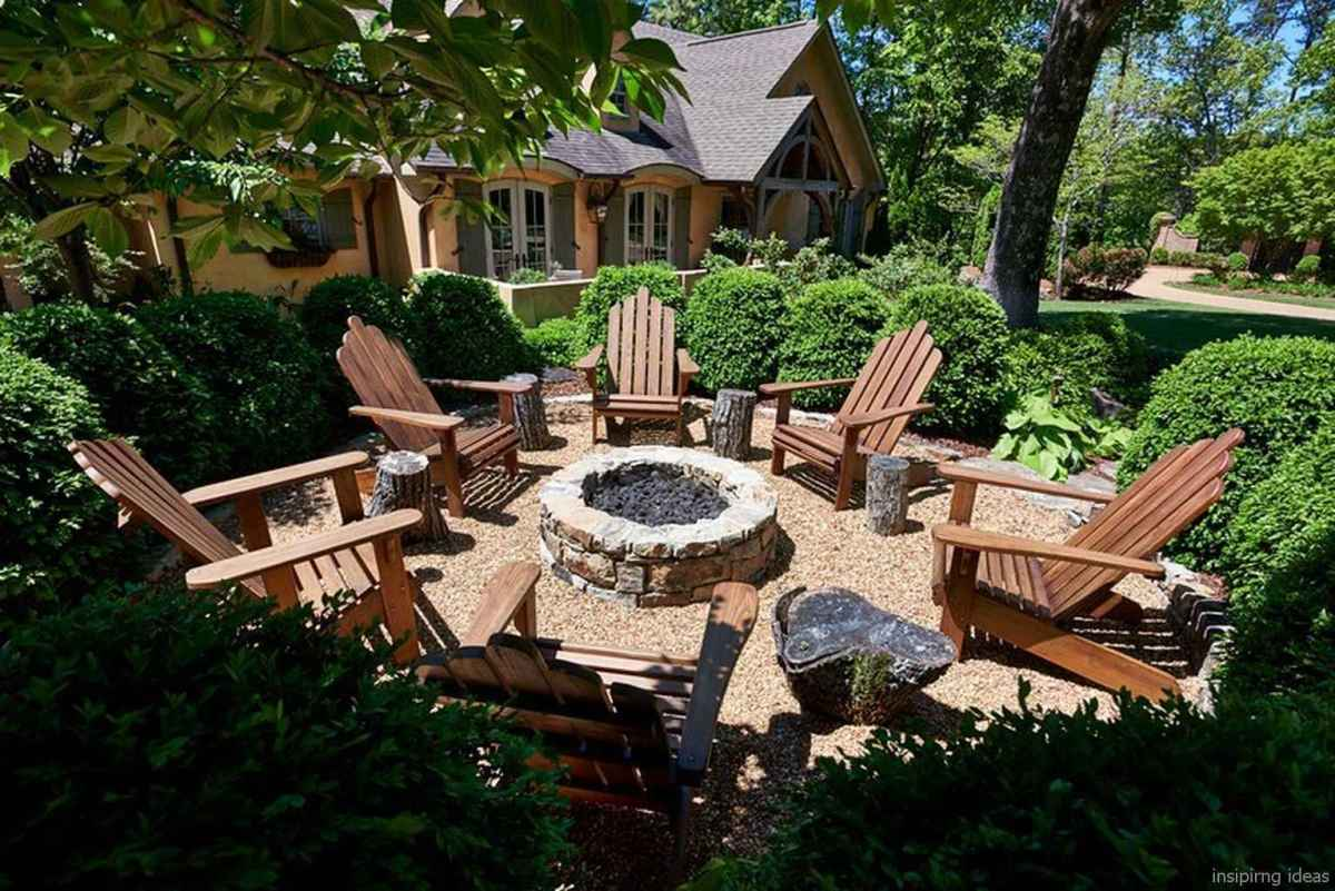 110 Fabulous Gravel Patio Ideas with Fire Pits 11