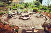 110 Fabulous Gravel Patio Ideas with Fire Pits 28