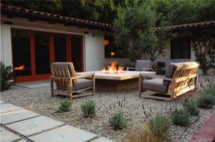110 Fabulous Gravel Patio Ideas with Fire Pits 29
