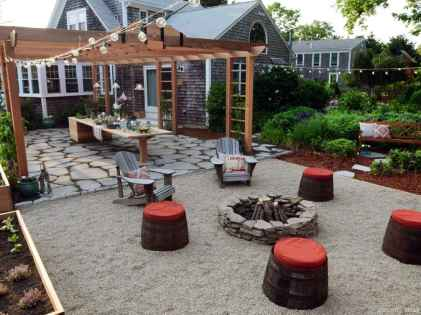 110 Fabulous Gravel Patio Ideas with Fire Pits 30