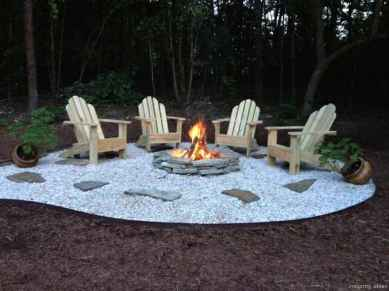 110 Fabulous Gravel Patio Ideas with Fire Pits 37