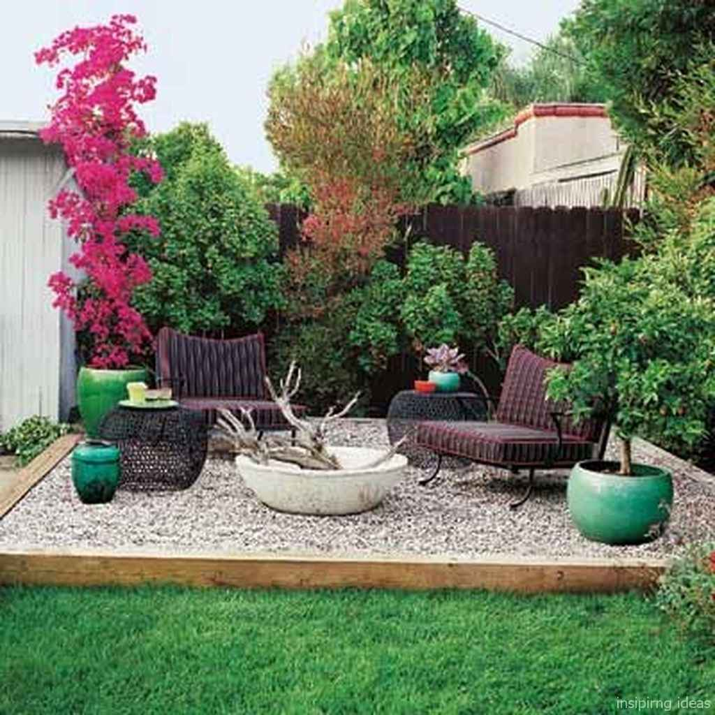 110 Fabulous Gravel Patio Ideas with Fire Pits 41