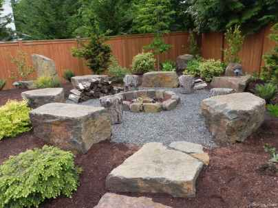 110 Fabulous Gravel Patio Ideas with Fire Pits 50