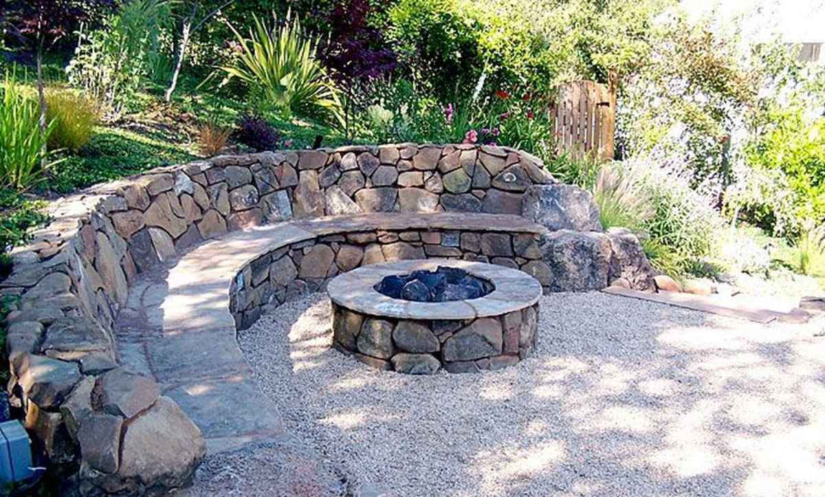 110 Fabulous Gravel Patio Ideas with Fire Pits 61