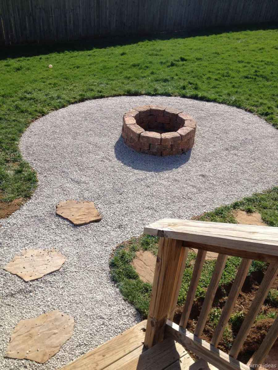 110 Fabulous Gravel Patio Ideas with Fire Pits 63