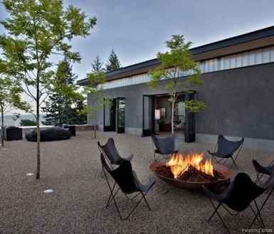 110 Fabulous Gravel Patio Ideas with Fire Pits 64