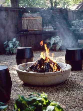 110 Fabulous Gravel Patio Ideas with Fire Pits 73