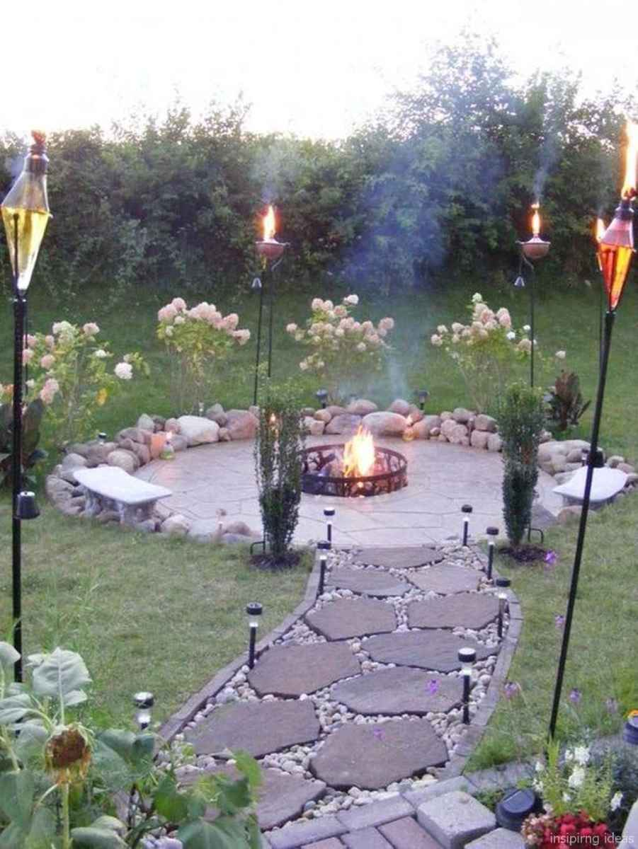 110 Fabulous Gravel Patio Ideas with Fire Pits 86