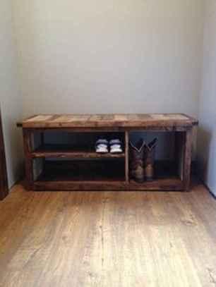 Rustic DIY Storage Bench Ideas 47
