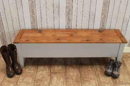 Rustic DIY Storage Bench Ideas 49