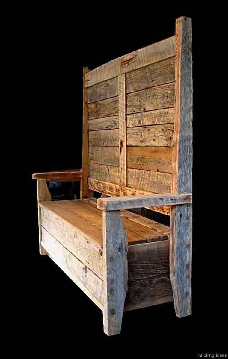 Rustic DIY Storage Bench Ideas 69