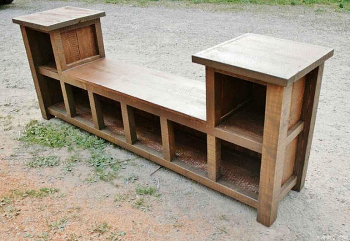 Rustic DIY Storage Bench Ideas 82