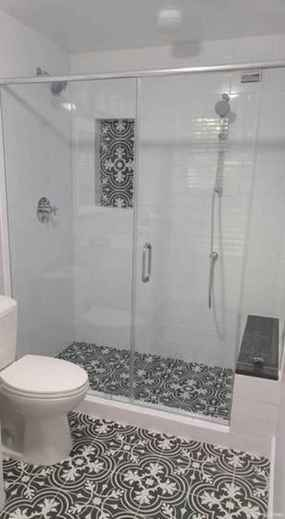 77 Fabulous Modern Farmhouse Bathroom Tile Ideas 52