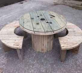 38 DIY Upcycled Spool Project Ideas for Outdoor Furniture