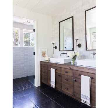 54 Best Modern Farmhouse Master Bathroom Design Ideas