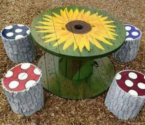 65 DIY Upcycled Spool Project Ideas for Outdoor Furniture