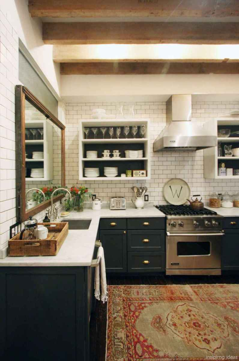 Modern Farmhouse Kitchen Backsplash Design Ideas 60