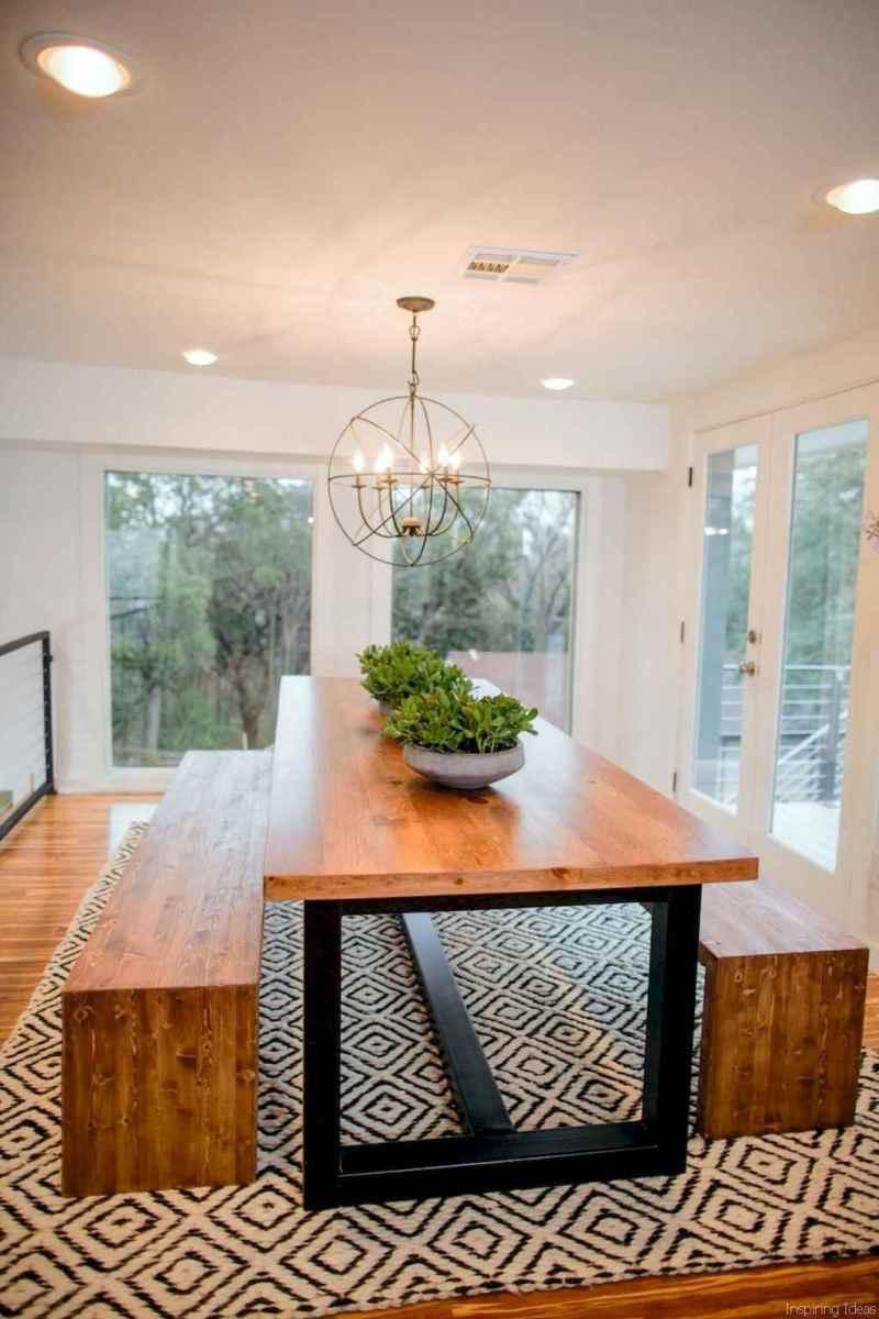 48 Beautiful Modern Farmhouse Dining Room Decor Ideas