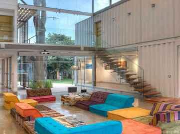 71 Unique Container House Interior Design Ideas